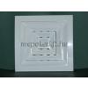 Négyszögletes szellőzőrács fehér 150x150mm