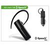 B-Speech JASS CAR Bluetooth headset v2.1 Class2 micro USB szivargyújtós töltővel - MultiPoint - black headset