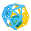 ABC műanyag hálós csörgő labda - több színben