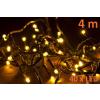 Karácsonyi LED világításí 4m - meleg fehér, 40 dióda