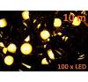 Karácsonyi LED világítás 10 m - meleg fehér, 100 MAXI LED dióda karácsonyfa izzósor