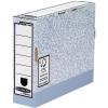 FELLOWES Archiváló doboz 80 mm szürke-fehér <10 db/csom> FELLOWES