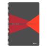 Leitz Spirálfüzet -46480025- A4 vonalas laminált karton borítás Piros Leitz
