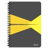 Leitz Spirálfüzet -44580015- A5 kockás laminált karton borítás Sárga Leitz