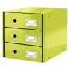 Leitz Irattároló 3-fiókos -60480064- zöld CLICK&STORE LEITZ