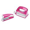 Leitz Tűzőgép mini és lyukasztó szett -55612023- 10lap kap. Pink WOW LEITZ