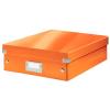 Leitz Rendszerező doboz-60580044- M méret Narancs CLICK&STORE