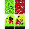 Interdruk Iskolai füzet - vegyes mintákkal-A5 60 lap Angry Birds kockás <10db/ cs