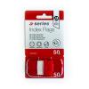 A-Series Index 25x43mm műanyag PIROS a-series <50címke/csom>