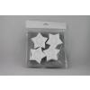 Polisztirol mécsestartó csillag forma 4 db/csomag 11401