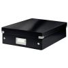 Leitz Rendszerező doboz-60580095- M méret Fekete CLICK&STORE