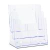 JansenDisp Brosúratartó A4 három rekeszes asztali falra szerelhető Jansen Dispay