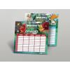 AngryBirds Órarend kétoldalas nagy 235x165mm 50 lap/csom Angry Birds Movie