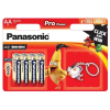 "Panasonic Elem, AA ceruza, 8 db, ajándék kulcstartóval, PANASONIC ""Pro power"""