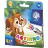 Astra Zsírkréta -316115001- 12+2 szivárvány szín vegyes minták ASTRINO <12kl