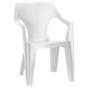 CURVER Dante alacsony támlás műanyag kerti szék, fehér színben