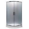 Leziter Spirit Matt 90x90x194 cm-es íves zuhanykabin, erősített akril zuhanytálcával