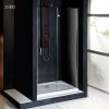 Sapho Vitra Line nyílóajtó fix résszel 80x200 cm transzparent üveg jobb