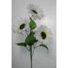 """Fehér """"Napraforgó"""" 3 virággal"""