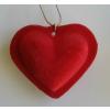 Plüss szív arany zsinóron 7 cm