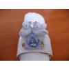 Szalvétagyűrű, porcelán, galambos