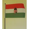 Textil zászló 30 cm címeres