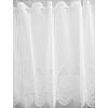 Fehér jaquard kész vitrage függöny rózsás bordűrös/015/Cikksz:01310057