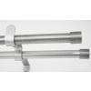 Kétsoros matt-króm fém rúdkarnis garnitúra, 200cm hosszú, Kupak véggel/Cikksz:0940201