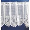 Fehér jaquard vitrage függöny, horgolt hatású, virágos/0016/Cikksz:01310582
