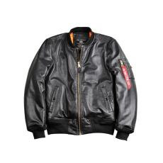 Alpha Industries MA-1 VF PM Leather marhabőr - fekete