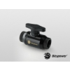 Bitspower Matt Black Dual Rotary Mini Valve With Inner G1/4 Extender /BP-MVVRIG14X2-MBKBK/