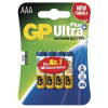 GP UltraPlus alkali AAA 4-es blister