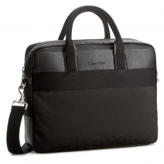 Calvin Klein Black Label Táska CALVIN KLEIN BLACK LABEL - Power Logo Laptop Bag K50K502134 001