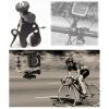 Sec-CAM SJ/GP-73, biciklis, motoros KORMÁNY rögzítő KONZOL, változtatható mérettartomány, műanyag - SJCAM és GoPro akciókamerákhoz - SJCAM SJ4000, SJ5000, X1000 sorozatokhoz