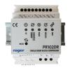 Roger PR102DR 35 mm-es DIN sínre szerelhető beléptetésvezérlő, egy átjáró kétirányú vezérlése, önálló vagy hálózatos működés