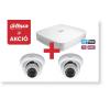 Dahua 5104DPX3 Tribrid 4 csatornás rögzítő + 2 db HDW-1000S IP kamera