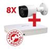Dahua PACK-V8-HFW1220RM 8 db HFW1220RM kamera, NVR4108 rögzítővel
