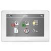 """Satel INT-TSH-WSW 7""""; érintőképernyős kezelő; fehér előlap, ezüst keret, fehér hátlap"""