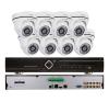 EuroVideo EVS-C08/DV1080PA28 CVI szett, 1 db EVD-C08/100A1FH, 8 db EVC-TC-DV1080PA28 biztonságtechnikai eszköz