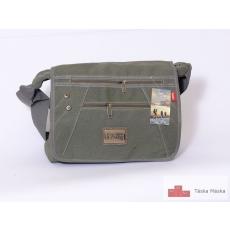 166 Angel Travelking zöld vászon táska