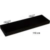 Fali polc STILISTA SALIENTO - barna-fekete 110 cm