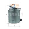 MAHLE ORIGINAL (KNECHT) MAHLE ORIGINAL KL440/27 üzemanyagszűrő