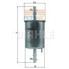 MAHLE ORIGINAL (KNECHT) MAHLE ORIGINAL KL573 üzemanyagszűrő