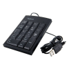 4world Super Slim USB fekete US numerikus billentyűzet