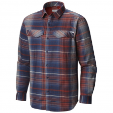 Columbia Silver Ridge Flannel Long Sleeve Shirt Ing D (1681631-p_831-Rust Red)