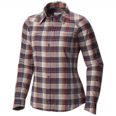 Columbia Silver Ridge Plaid Long Sleeve Shirt Ing,blúz D (1443221-p_500-Dusty Purple)