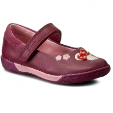 Clarks Balerina CLARKS - NibblesFay Inf 261191306 Berry Leather