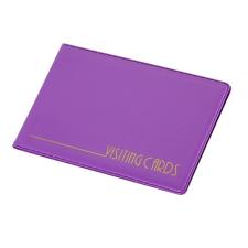 Névjegytartó, 24 db-os, PANTAPLAST, pasztell lila névjegytartó