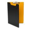 Felírótábla, fedeles, A5, PANTAPLAST, fekete-sárga felírótábla