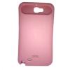 Samsung Galaxy Note 2 N7100, Műanyag hátlap védőtok, S-Glow, foszforeszkáló, rózsaszín